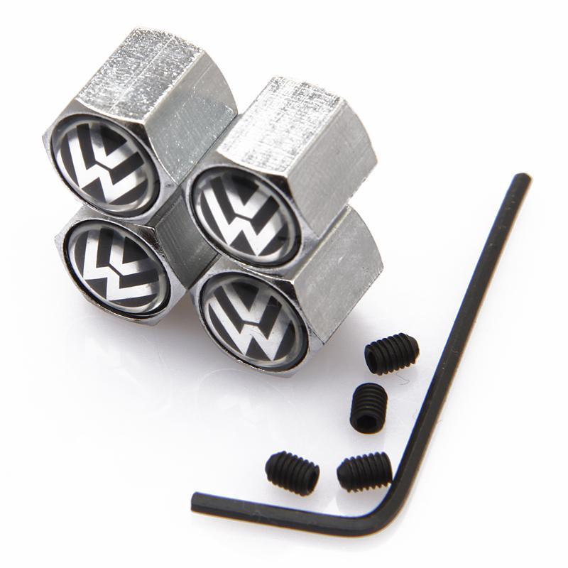 Free shipping Anti theft design automobile wheel tire tyre valve stem caps cover car logo brands badge emblem car-styling(China (Mainland))