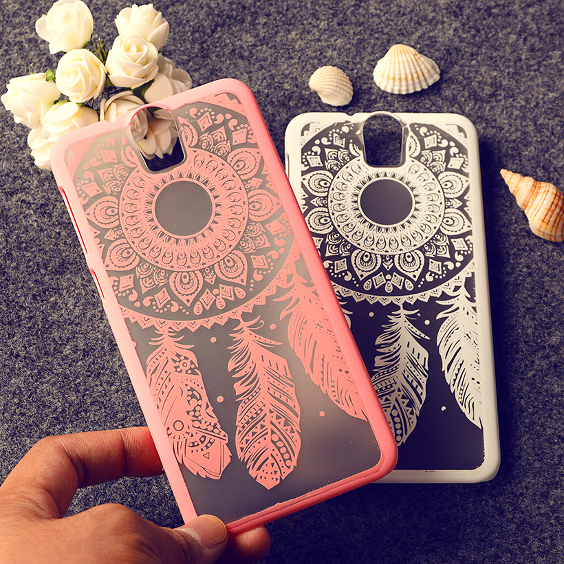 Rubberized Painted Dream Catcher Vintage Damask Flower Pattern Hard Plastic mobile phone skin case Cover For HTC One E 9 E9 PLUS(China (Mainland))