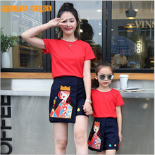 2016 NEW Baby&Mom Skirt Sets,Girl Dress,Women Kids Clothes Sets Family Look Clothing Family Matching Outfits MN026