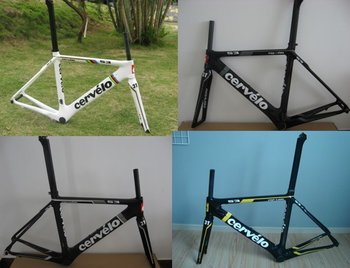 Frame Aero Carbon Road bike frame 51cm BSA68 Frame/Fork/Seat Post with camp/Headset