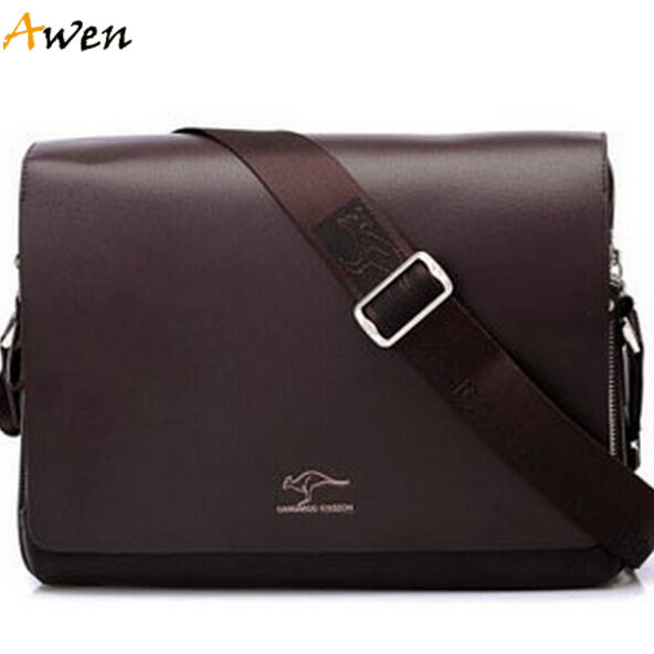 Awen-hot sell new arrival large horizontal leather mens messenger bags,famous brand mens briefcase bag,best selling men bag(China (Mainland))