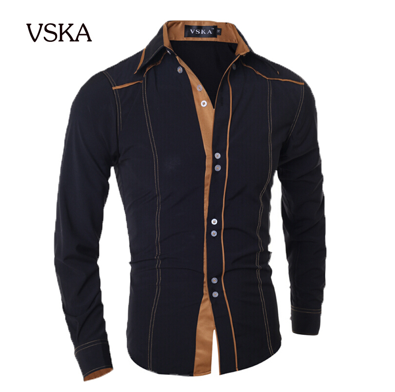 Men Shirt 2015 Fashion Brand Men S Double Button Male Long Sleeved Shirt Camisa Masculina Casual