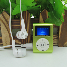 Sport MP3 Player with LCD Screen Metal Mini Clip MP3 Music Player Earphones USB Cable with Micro TF/SD Card Slot(China (Mainland))