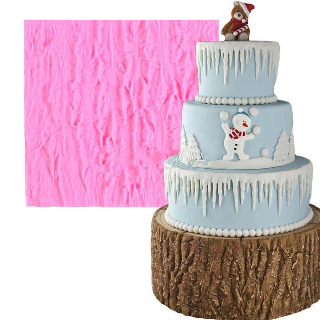 Cake Decorating Chocolate Bark : Bark silicone cake mold fondant mold DIY cake decorating ...