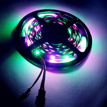 DC5V 5M WS2801 Addressable LED Strip Arduino development ambilight TV 32leds/m 5050 RGB 12mm led Magic Dream Color Rope Light(China (Mainland))