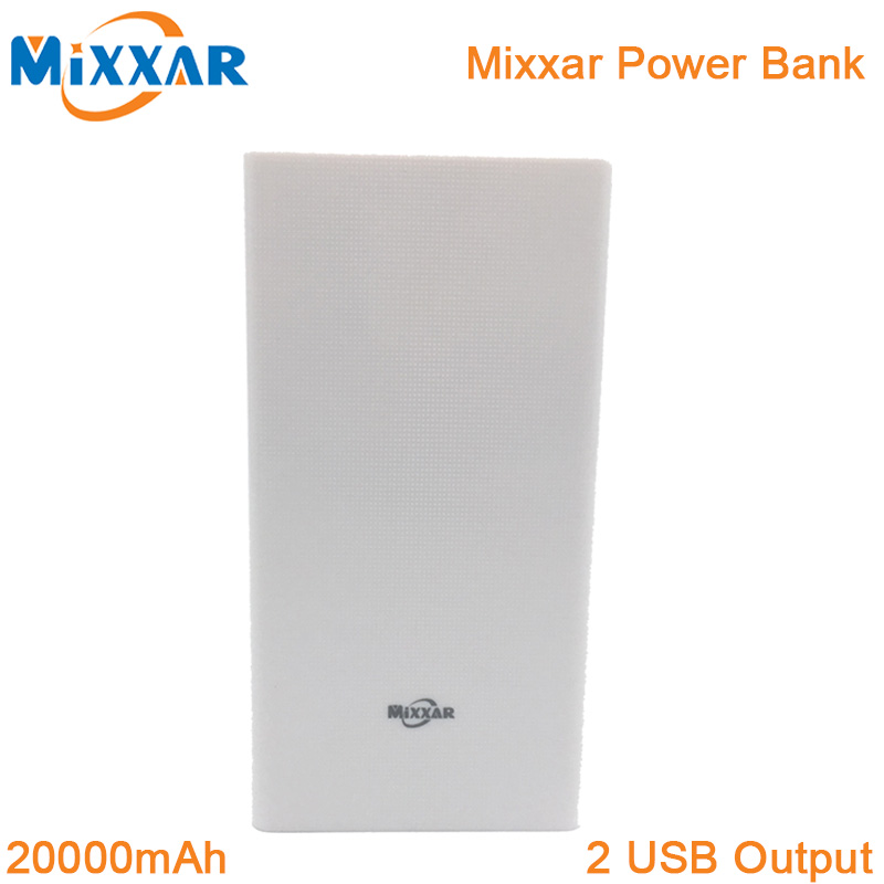 ZK90 Mixxar Original Portable 20000mAh Power Bank External Battery Pack Charger Powerbank For iPhone Samsung Phone iPad(China (Mainland))