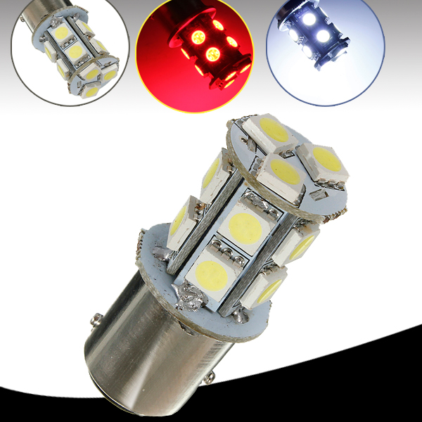 Best Price 1157 BAY15D 13 LED 5050 SMD Car Auto Light Source Parking Stop Tail Turn Signal Lamp Bulb DC12V White Red(China (Mainland))