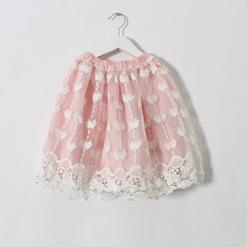 2016 summer new style girls lace skirt fashion children kids baby girls beautiful lace skirts()