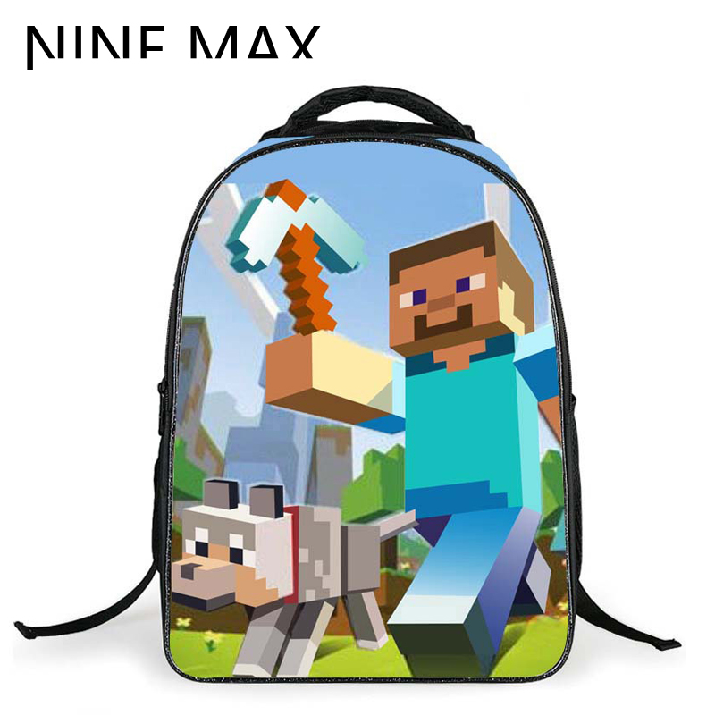 Quality 3D Embossing Minecraft Mosaic Game Backpack Lovely Bags for Teens Boys and Girls Mabel Travel Kids School Bag(China (Mainland))