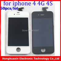 DHL/EMS Grade A++ no dead pixels and spot LCD touch Digitizer screen Assembly for iphone 4 4G 4S lcd display screen+one tools