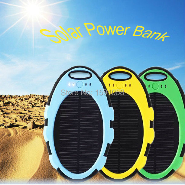 New solar charger power bank Tri-proof 5000mah carregador solar back power for all kinds of smart phones, tablets Free shipping(China (Mainland))