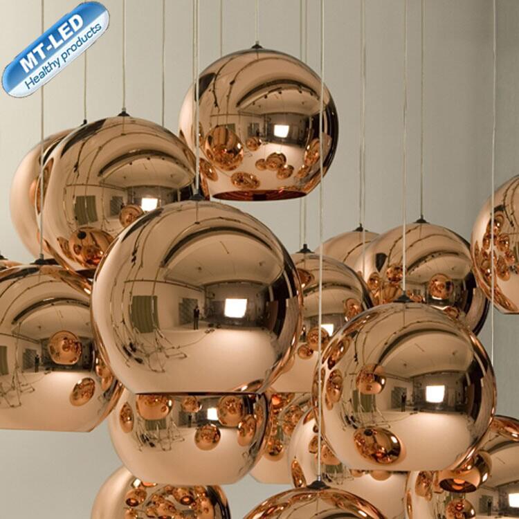 Люстра серебряные шары