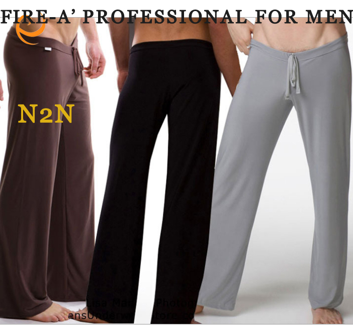Quality Famous Brand Smooth Loose Low waist Yoga Suit Sleep Bottoms for Man Slim Gymnastics Men's Underpants Home Pants #2888(China (Mainland))