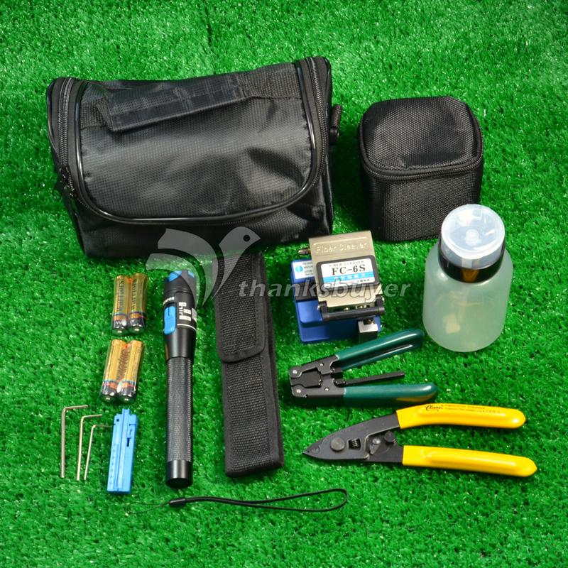 Fiber Optic FTTH Tool Kit with FC-6S Fiber Cleaver and Optical Power Meter Bag Kit<br><br>Aliexpress