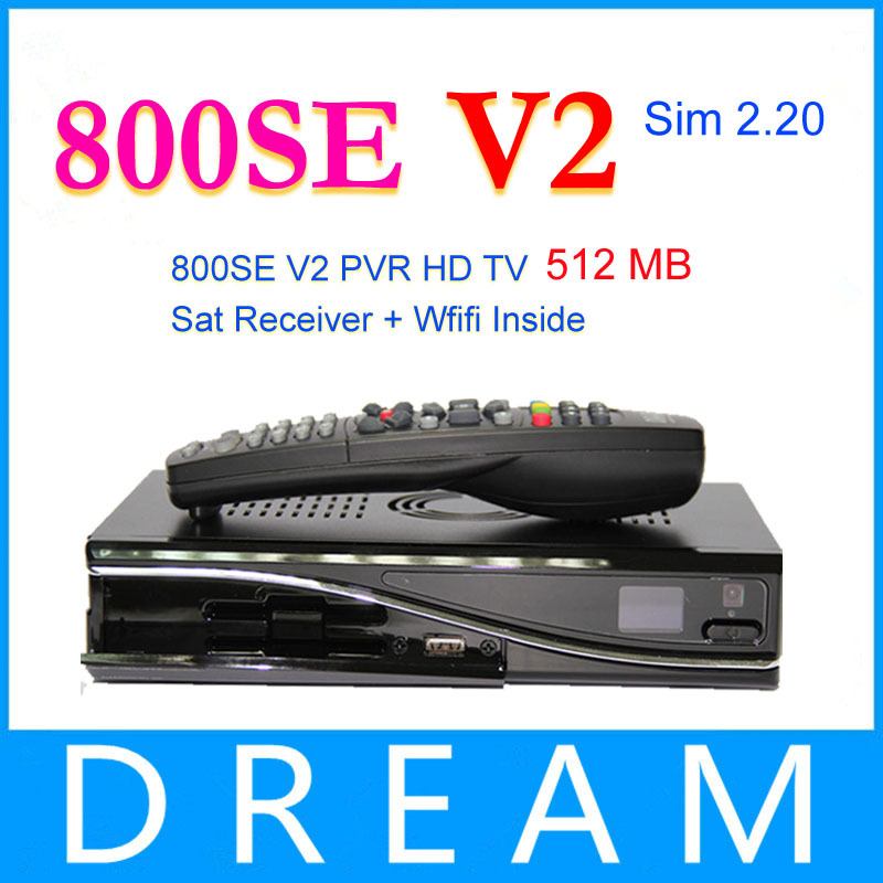 2pcs 2014 Newest!!!! dm800se v2 wifi dm800hd se Wifi 1GB Flash 512MB RAM Sim2.20 DM800hd se Wifi 400Mhz Processor Free Shipping(China (Mainland))
