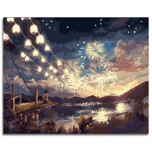 Diy digital oil painting 50 40cm bus frameless paint by number kits acrylic painting unique gift home decor(China (Mainland))
