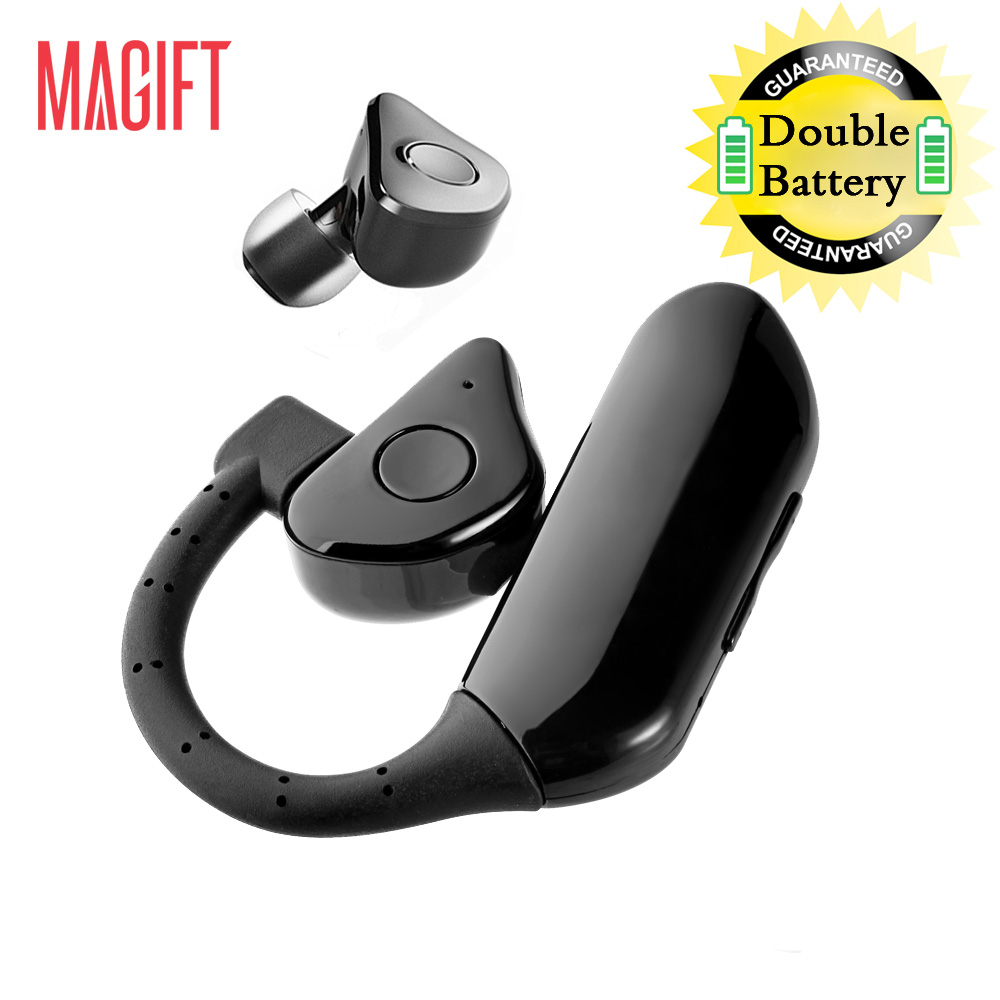 Magift Q8 Mini and Business Wireless Bluetooth Earphone Double Battery Dual Power Supply Removable Earbuds for Mobile Phones Car(China (Mainland))