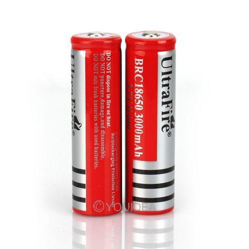 10 Pcs 3 7V 18650 battery 3000mAh Li ion Rechargeable Battery for Flashlight Hot New 3