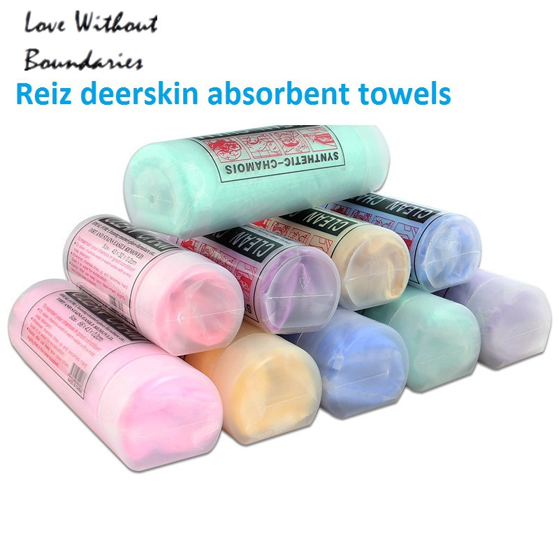 Flexo deerskin absorbent towels Pet Drying Towel Ultra-absorbent Dog Bath Cat Cleaning Necessary 43*32*0.2cm - Love Without Boundaries Green Food Shop store