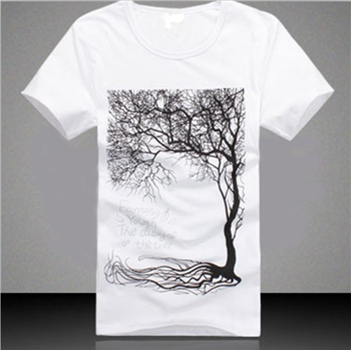 100 cotton high quality soft fabric white boy printed tee for Good quality cotton t shirts