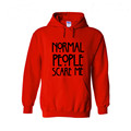 Hoodies Men 3D Printed Sweatshirts and Hoodies Normal People Scare Me American Horror Story Letters Hooded