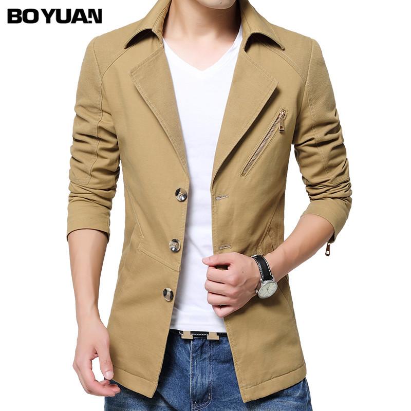 BOYUAN Men Jacket Spring Autumn 2017 New Brand Clothing Navy Khaki Plus Size M-4XL Windbreaker Campera Hombre Jacket Men BYH818(China (Mainland))