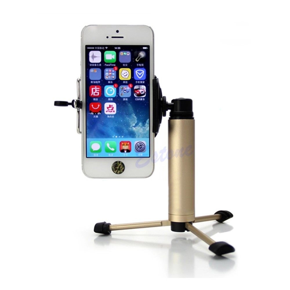 Kris - hot Mini Pocket Tripod Mount Stand Screw Clip Clamp For Mobile Phone Camera Key Ring(China (Mainland))