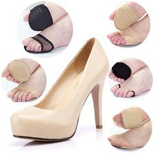 2Pcs/set of Thickening Super Soft Forefoot Pad Flip Dyke Heel Invisible High Heeled Shoes Pad Slip Resistant Half Yard Pad(China (Mainland))