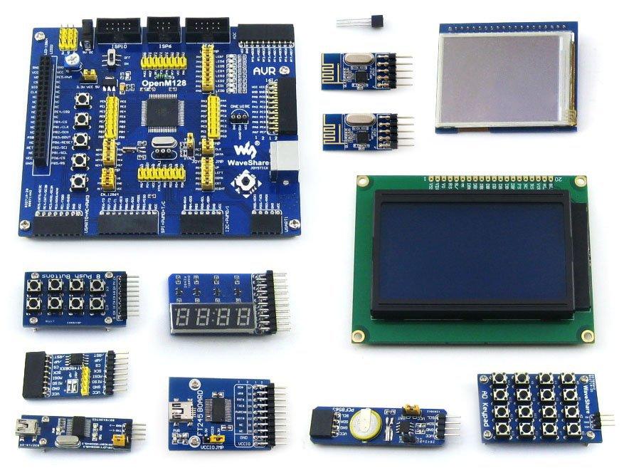 Здесь можно купить  ATmega128A-AU ATmega128 AVR 8-bit RISC Evaluation Development Board +11pcs Accessory Modules Kits = OpenM128 Package B ATmega128A-AU ATmega128 AVR 8-bit RISC Evaluation Development Board +11pcs Accessory Modules Kits = OpenM128 Package B Электронные компоненты и материалы