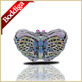 Luxury Butterfly Gold Crystal Evening Clutch Bag Women Rhinestone Clutches Party Purses Small Handbag Long Chain