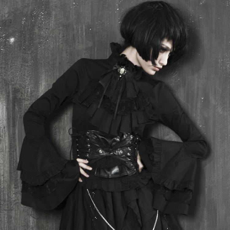 Punk Rave Gothic Lolita Rock Fashion Novelty Women Shirt BlackОдежда и ак�е��уары<br><br><br>Aliexpress