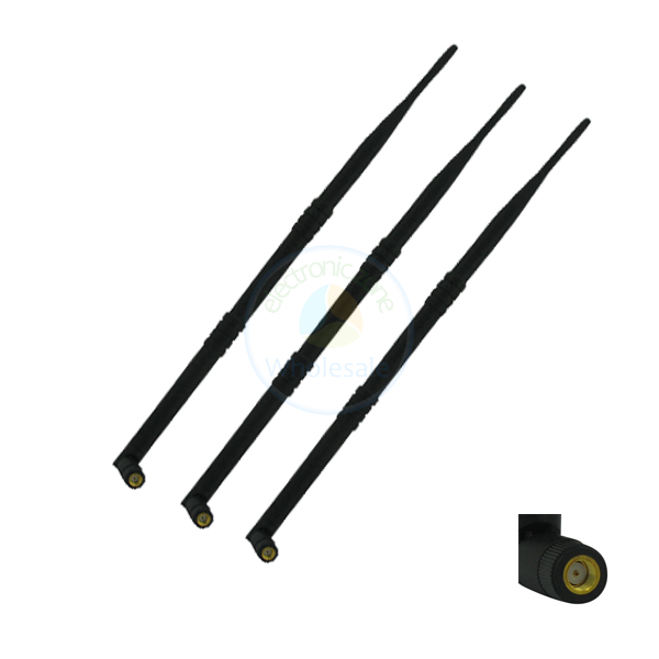 3 dual band 9dB WiFi Antenna RP-SMA for TP-Link TL-WR1043ND TL-WR2543ND(China (Mainland))