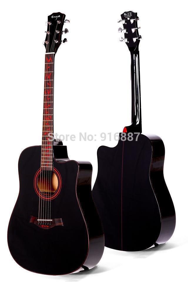 EF15E High quality grade Acoustic Guitar Indian Rosewood Fingerboard AAA Engleman Spruce guitarra 40 thin body cutaway(China (Mainland))