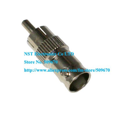 100PCS/ Free Shipping / BNC Female Jack to RCA Male Plug Adapters / BNC Connector(China (Mainland))