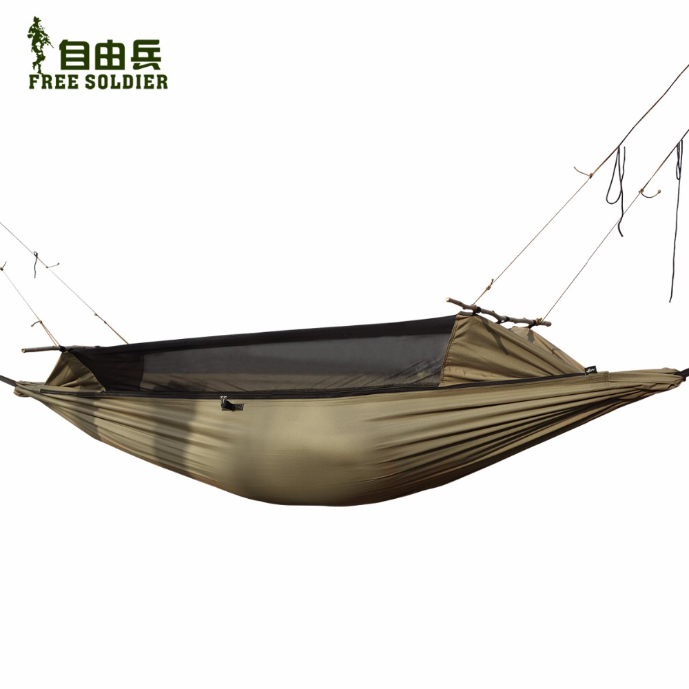 camping hiking tent outdoor survivor portable mosquitoe hammock wear-resisting large tent free soldier