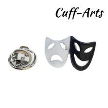 Cuffarts 2018 Fashion Broche Messing Mannen Sieraden Trendy Badges Revers Pin Voor Mannen Muziek Brief Dier Hoge Kwaliteit PT002(China)