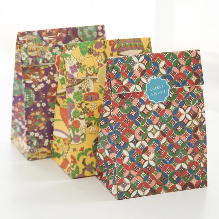 (3 pieces/lot) Vintage Japanese Paper Bag Gift Packaging Bag Christmas Gift Bag(China (Mainland))