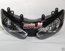 Motorcycle Headlamp For Kawasaki Ninja 2005-2006 ZX-6R 636 ZX6R 05 06, Brand New Clear Head light lamp, BLACK Color Headlight