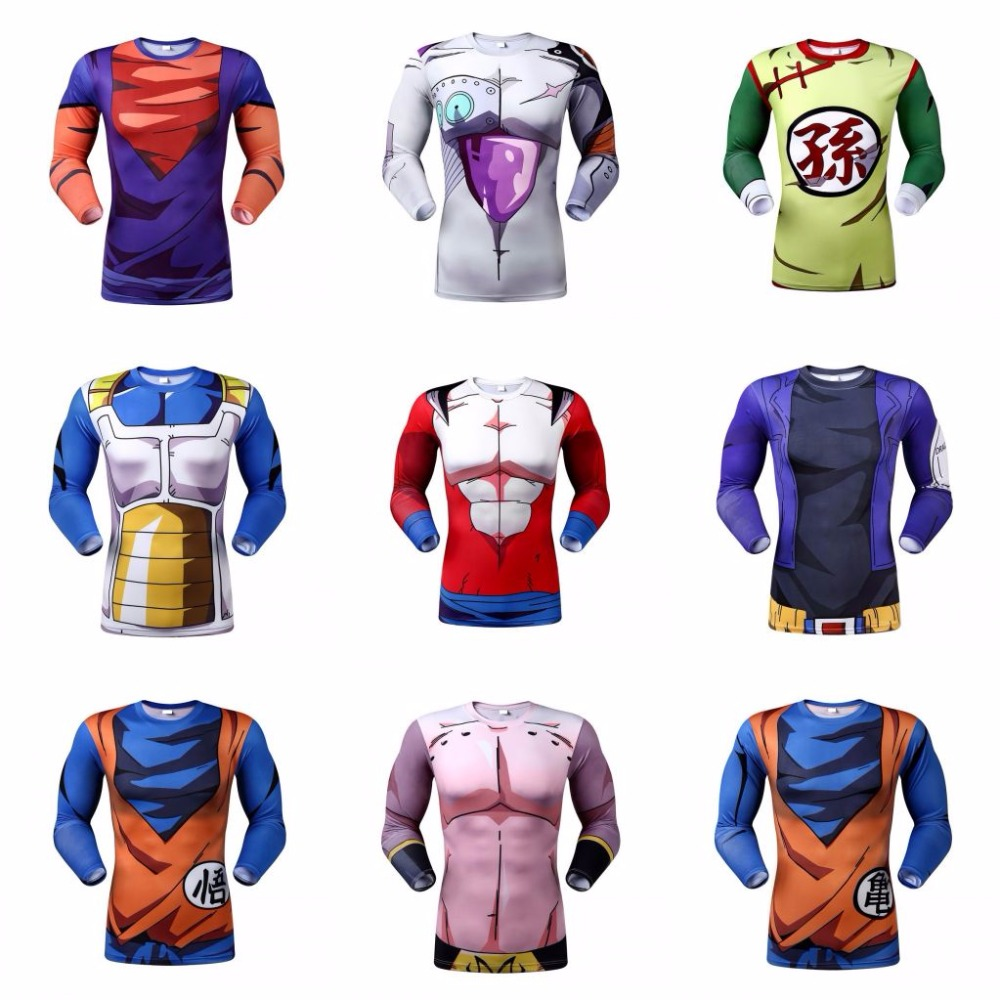 Dragon Ball Z Vegeta Resurrection F Armour T Shirts Women Men Anime Super Saiyan Goku/Majin Buu/Piccolo/Cell DBZ T shirt 3D Tees(China (Mainland))