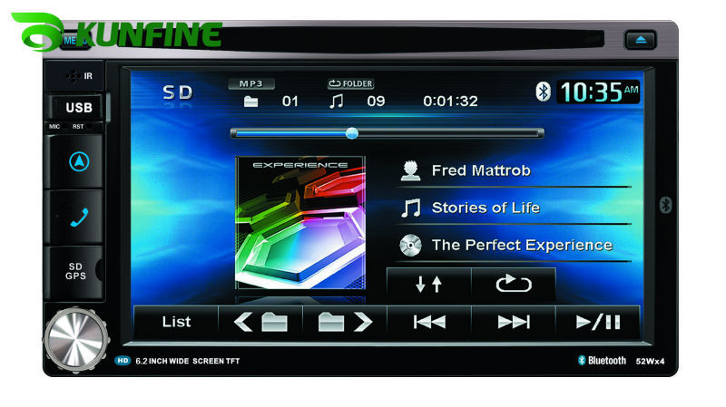 Wholesale price ! 6.2 inch touch screen 2 Din Car DVD player with GPS, audio Radio stereo,FM,USB/SD,Bluetooth/TV KF-507A<br><br>Aliexpress