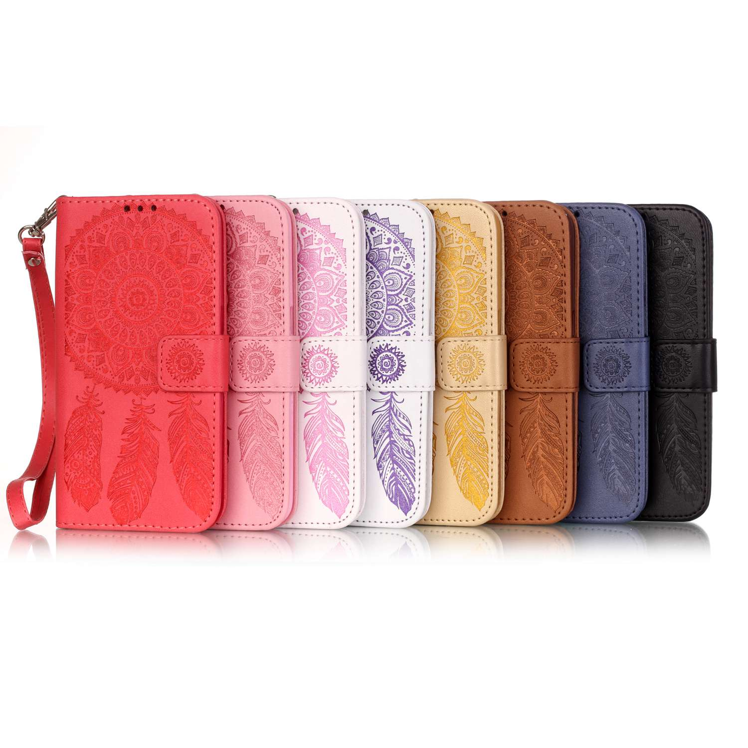 For Samsung Galaxy S7 Case Cover G9300 G930F Phone FlipCase Wallet Embossed Wind Chime Fundas Coque Leather BookCase Accessories(China (Mainland))