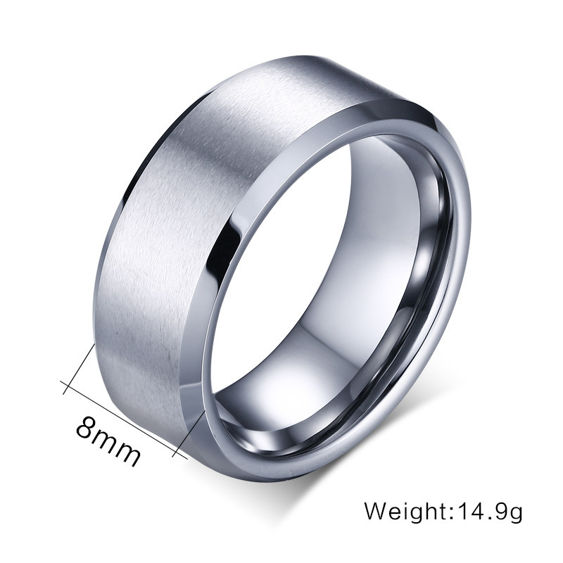 8mm Black Silver Gold High Polish Tungsten Carbide Men s Wedding Band Rin