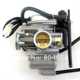 KUNFU Carburetor 24mm for font b GY6 b font 125cc 150cc ATV Go Kart Moped Scooter