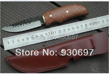 Pequeño cuchillo de fruta cuchillo del cortador mano forjó Linden loco negro pequeña recta l cuchillo of the cuchillo