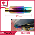 Neo Chrome Hi Power Universal 304 Stainless Steel Exhaust Pipe Racing Muffler Tip Car Exhaust Pipe