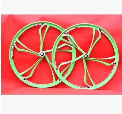 MTB bicycle saddle white 4 disc brake wheels road bike magnesium alloy wheel - Mountain accessories store