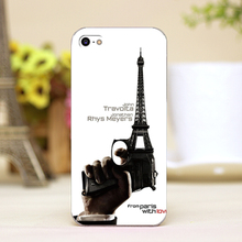 pz0014-31 gun and tower Design Customized cellphone transparent cover cases for iphone 4 5 5c 5s 6 6plus Hard Shell
