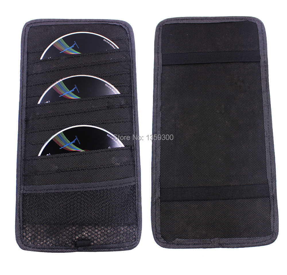 New 12 Disc CD DVD Car Sun Visor Card Case Wallet Storage Holder Bag Tidy Sleeve(China (Mainland))