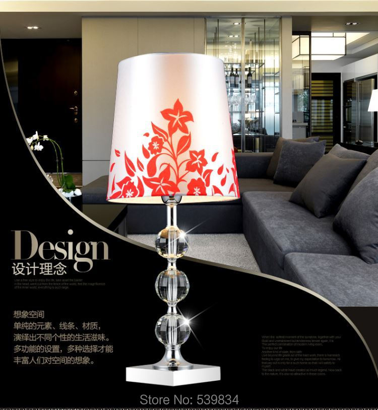 Free Shipping! Luxury Crystal led table lamps for bedroom/Foyer/Study room/hotel/bar; bedside Crystal Lamps zp19B(China (Mainland))