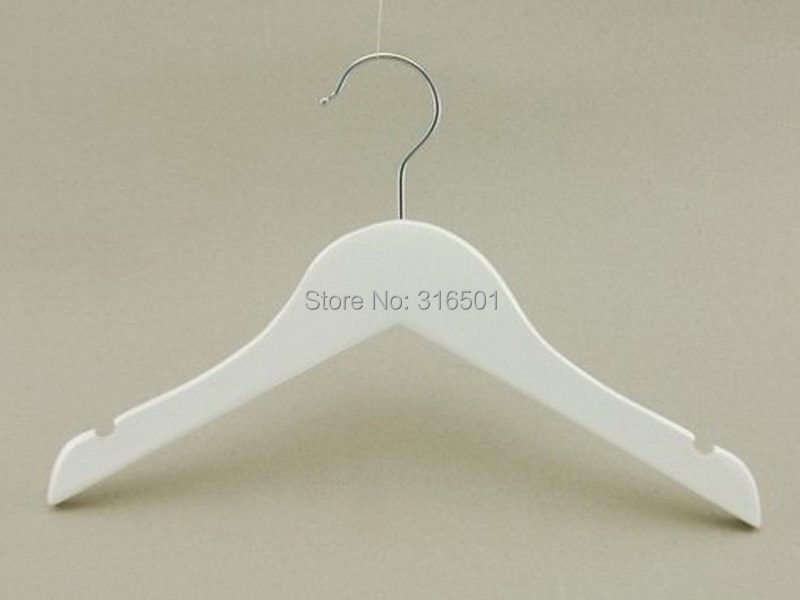 Guangdong factory direct sale white kids clothes wood hanger(China (Mainland))